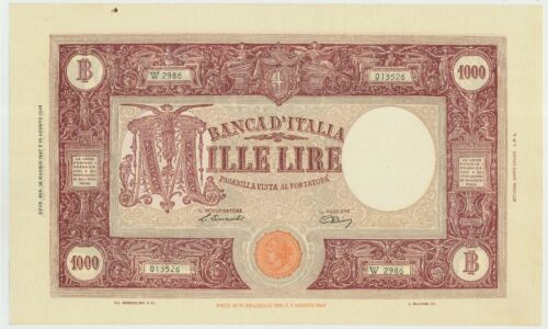 M P.72c/_VF 503561 Italy 1000 Lire May 19th 1947