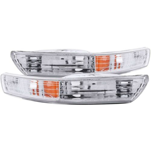ANZO PARKING//SIGNAL LIGHTS CHROME AMBER for 98-01 ACURA INTEGRA