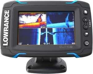 New Lowrance Elite-5 Ti CHIRP Touchscreen Marine GPS Fishfinder w/ Transducer