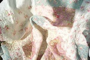 julie tagesdecke 180x260 t rkis rosa creme patchwork. Black Bedroom Furniture Sets. Home Design Ideas