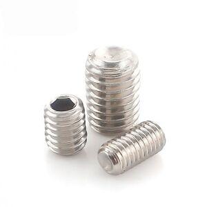 300 M3*5mm 12.9 Grade Alloy Steel Cone Point Grub Screws Hex Socket Set Screw