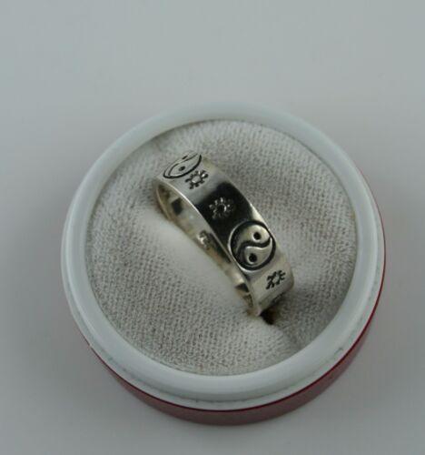 Sterling Silber Ring  Yin und Yang  Größe 59