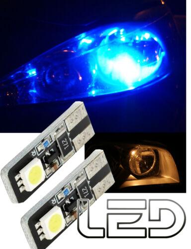 2 Ampoules Led Veilleuses Bleu Feux de position anti  Erreur Odb Canbus