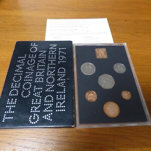 1971 Coinage of Great Britain and Northern Ireland Royal Mint Proof Coin Set