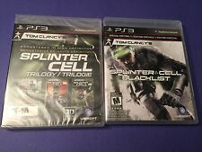 Tom Clancy's Splinter Cell *Trilogy + Blacklist* Combo Pack (PS3) NEW