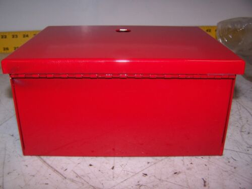 """NEW ELECTRICAL ENCLOSURE 8/""""X6/""""X4/"""" HINGED RED ENCLOSURE 8/""""TALL 6/""""WIDE 4/""""DEEP"""
