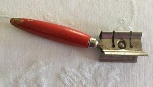 Details about Vintage A & J Knife Sharpener Red Wood Handle USA Made  Kitchen Utensil