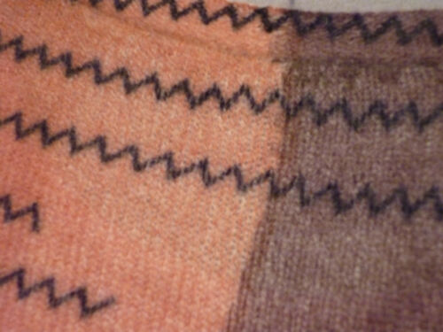 manica fantasia in lunga beige cashmere taglia 46 Maglia 44 marrone con moda 0fqxwYZ
