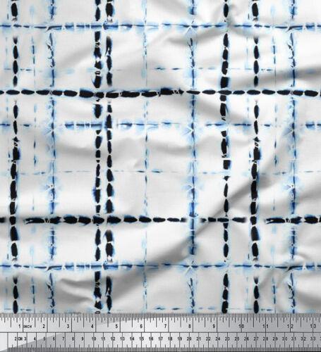 Soimoi Indigo Blue 58 Inches Wide Shibori Cotton Fabric Craft Material 1 Yard