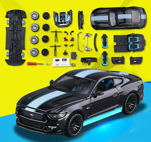 Maisto 1 24 Ford Mustang Gt Diecast Assembly Line Kit Diy Model Car