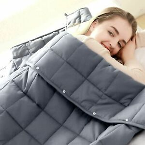 Twin/Queen/King Size Weighted Blanket 15/20/25lb Kids Adults Promote Deep Sleep
