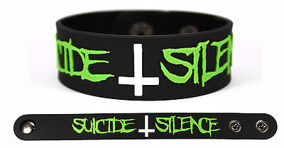 SUICIDE SILENCE Rubber Bracelet Wristband Ending Is the Beginning