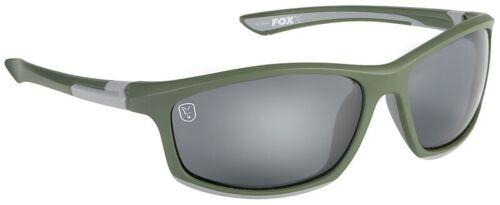 Fox Green Silver Sunglasses Grey Lens CSN044 Sonnenbrille Brille Polbrille