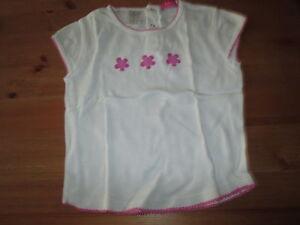 Tee-shirt-Blanc-et-Rose-MC-T4ans-marque-O-Ka-Ou-en-TBE