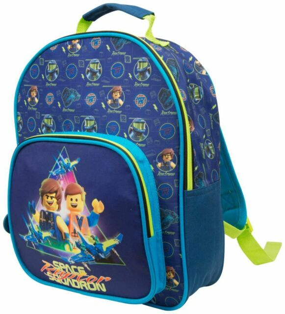 ce321284efb Lego Movie 2 Large Deluxe Junior Backpack With Side Zip Pocket And Mesh