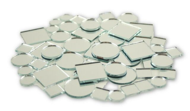 25 Pack Unfinished Miniature Mirrors for Wedding Crafts Table Scatter