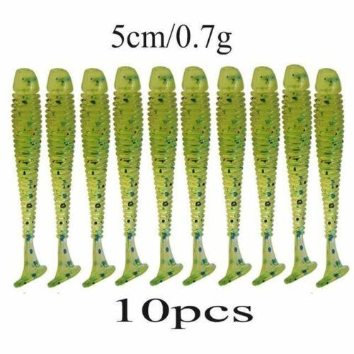 10pcs//lot Wobblers Soft Bait Saturn Worm 0.7g 4.7cm Swimbaits Silicone Soft Lure