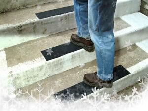 5 strisce adesive 30cm x 10cm nere antiscivolo per gradini per evitare scivolate