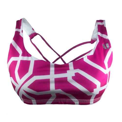 Sports Bra by Venus Williams GEO STAR HOT PINK Spandex  Workout Athletic Gym NWT