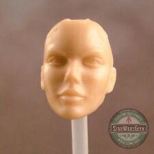 "ML179 Female no hair Custom Cast head sculpt use w/6"" Marvel Legends figure"