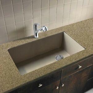Transolid Radius Russ3118 16 Cafe Latte Granite Single Undermount Kitchen Sink 608197126734 Ebay