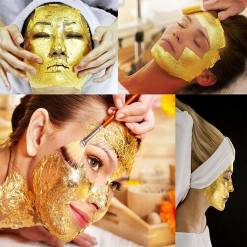 EG/_ 10 SHEET GOLD LEAF LEAVES FOIL FOR EDIBLE FOOD GILDING FACIAL BEAUTY SPA ACT