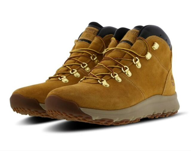 9c5e8dde892 Timberland World Hiker Mid Wheat Suede Mens BOOTS Shoes Size UK 10 / EU 44.5