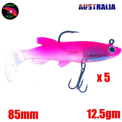 Soft Plastic Fishing Lure Tackle Grub Worm Paddle TAIL FLATHEAD Snapper Lures