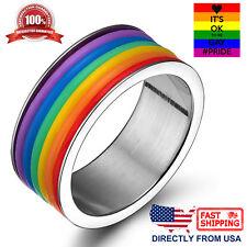 JEWEL RING PRIDE GAY PRIDE LESBIAN HOMO MAN LGBT STEEL RING CHEAP