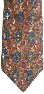 Ungaro-Men-039-s-Silk-Tie-58-5-034-X-3-75-034-Multi-Color-Geometric