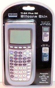 Clear TI-84 Plus SE Calculator Silicone Skin Protective Case Cover Silver Ed