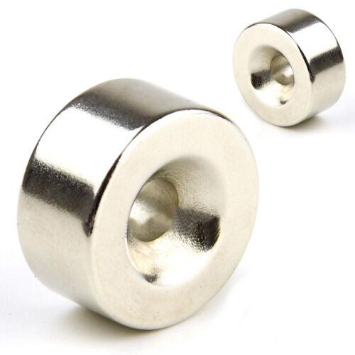 N35 Starke Runde Scheibe Ring Magnet seltenen Erden Neodym 20 x 10mm Loch 5mm