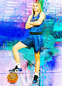 2021 Paige Bueckers Hopkins HS Uconn Huskies 14/25 Art ACEO Print Card By:Q