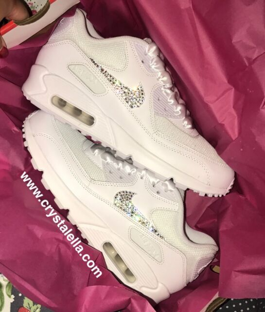 Crystal Nike Air Max 90's Perfect Gym Trainers Casual Wear