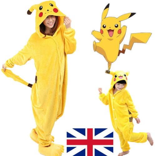 Onesie00 Pokemon Pikachu Pyjamas Party Oufits Kigurumi Sleepwear Fancy Dress UK