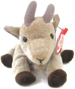 d2f4deda491 TY Beanie Babies Goatee Goat Bean Plush Stuffed Animal Tag Errors ...