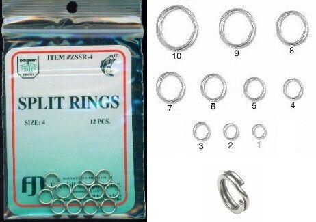 3 ANNEAUX BRISES anneaux brisés ACIER INOX Ø 15 mm taille 10 sandre carnassier