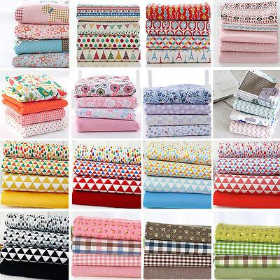 "Fat quarter 18""*22"" 4 Pieces Bundles Craft 100% Cotton Fabric Sewing Quilting"