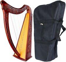 Celtic Irish Harp with CASE 22 Strings ROSEWOOD Lap FOLK DH800-01
