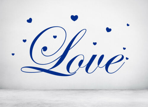 Any colour. Love Hearts Valentine Wall Decal Sticker Art walls Windows Shops