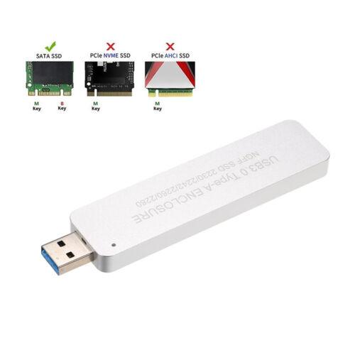 NGFF//M.2 SSD TO USB 3.0 Type-A External Enclosure Storage Case Box 5Gbps O6E9