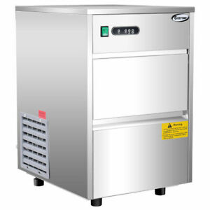 Automatic-Ice-Maker-Stainless-Steel-58lbs-24h-Freestanding-Commercial-Home-Use