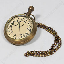 VINTAGE POCKET WATCH - Battery Powered Chain Clasp Large Numbers