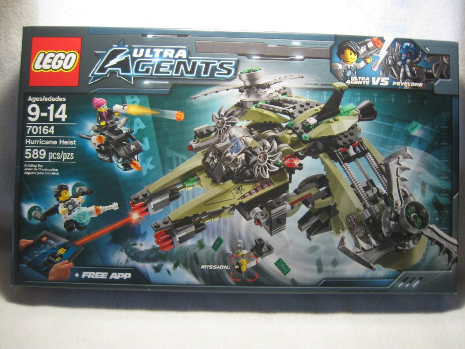 Lego Ultra Agents Agents Agents VS Psyclone Hurricane Heist 70164 Ages 9-14 New Sealed Box bdef58