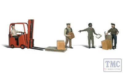A2744 Woodland Scenics Painted Figures O Workers With Forklift Per Soddisfare La Convenienza Delle Persone