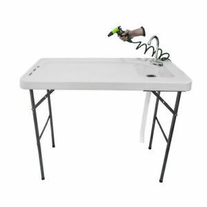 RITE-HITE Multi Function Folding Table Fish Filleting, Ideal for Outdoor Use