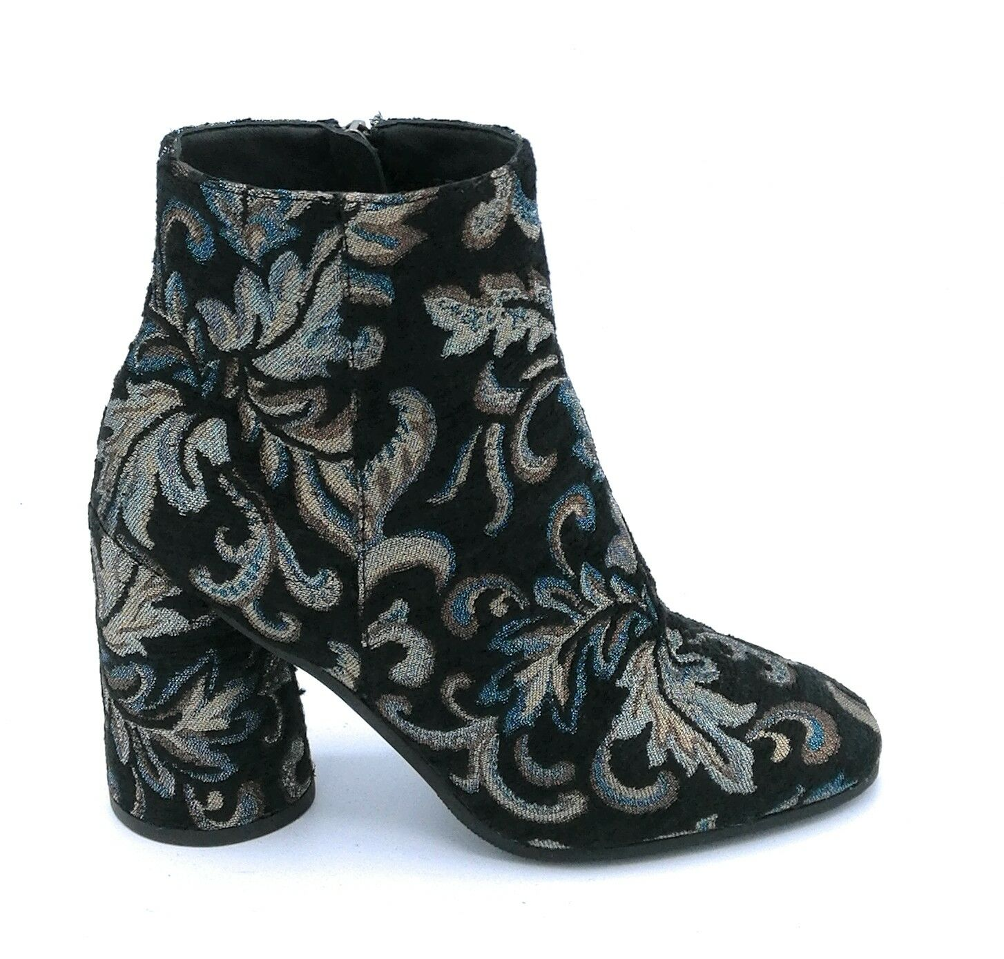 Zanon G4301 ankle boot lame black damasked zippered zippered zippered e8f319