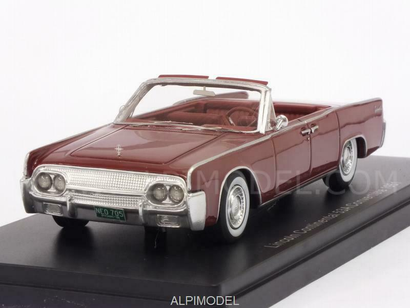 Lincoln Continental 53A Congreenible 1961 Red 1 43 NEO 47050