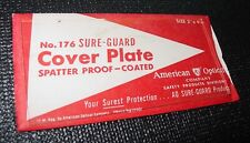 Vintage American Optical Sure Guard Weld Cover Plate No176 Usa 2 X 4 14 Nos