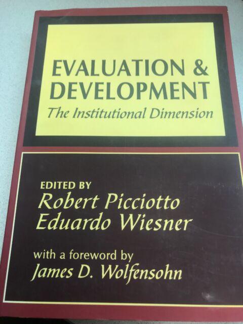World Bank Series BOOK Evaluation Development ISBN 07865804239 Economics Picciot